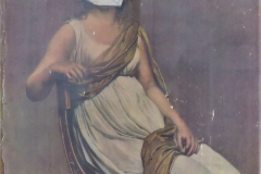 Clara-BOIX.-1ere-Spe.-1ere-Spe.-Variation-sur-loeuvre-de-J-L-DAVID-Madame-de-Verninac-1799.-Vernis-sur-papier-imprime-et-collage.-1